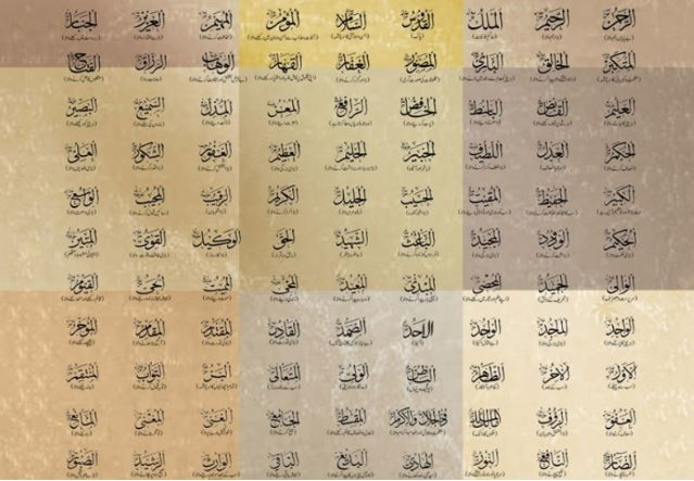 99 Beautiful Names of Allah (Asmaul Husna)