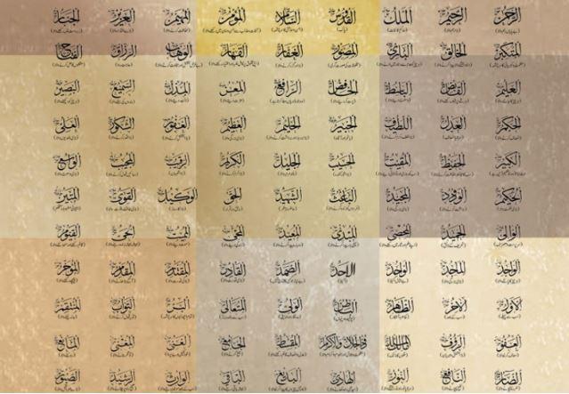 nama nama inshda Allah asmaul husna