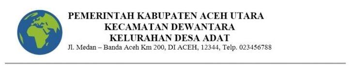 Contoh kop surat dalam instansi pemerintahan