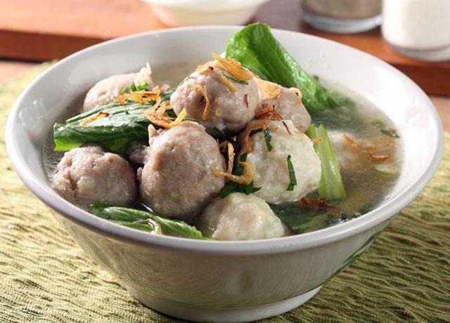 Bakso or meatballs food