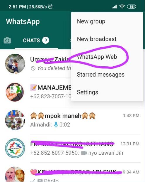 Cara Membuka Whatsapp di desktop