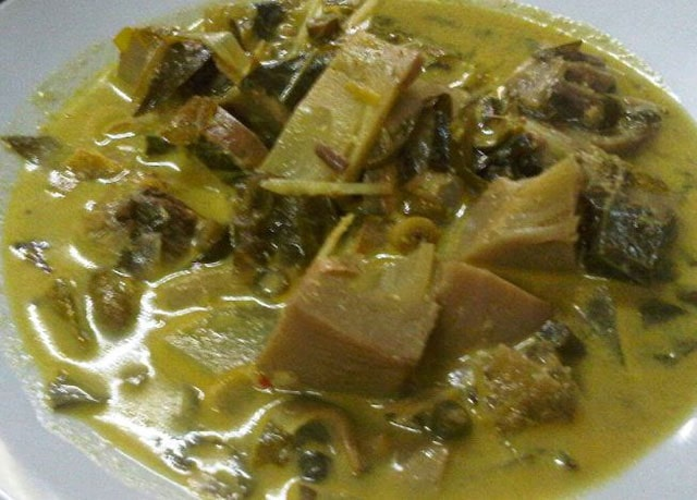 Kuah Plik Ue, traditional meal from Aceh