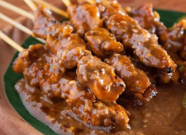 Satay, traditional food from Indonesia