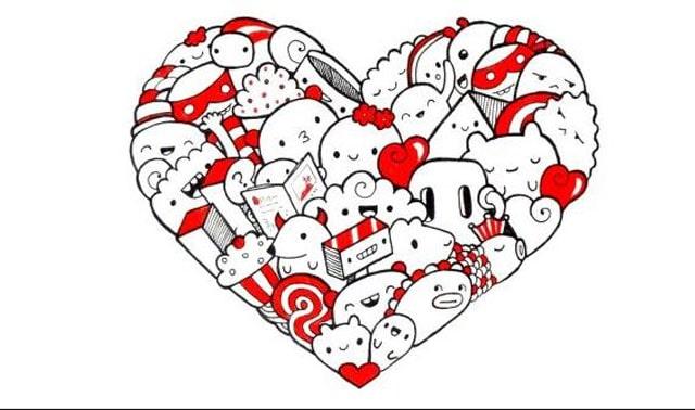Gambar doodle love
