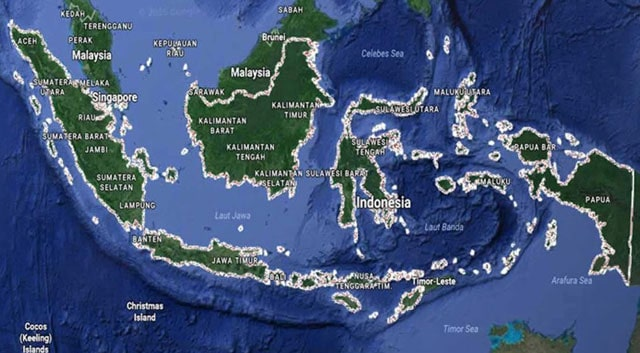 Geographical Position of Indonesia