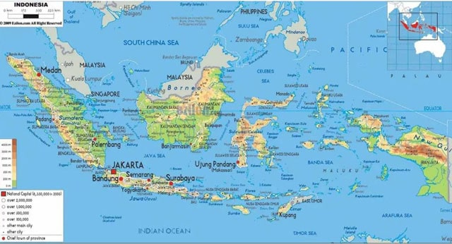 Causes of Indonesia's Geographical Position