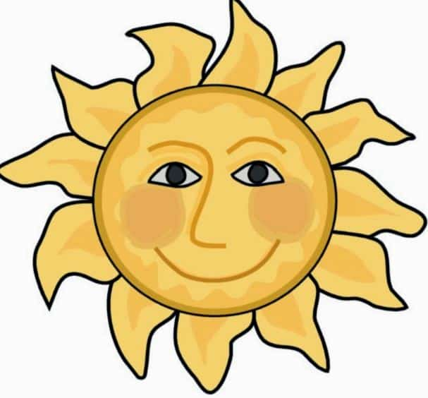 gambar animasi matahari senyum