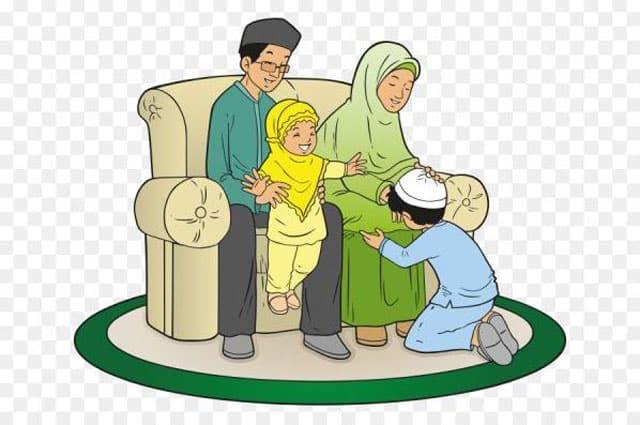 gambar kartun keluarga islami