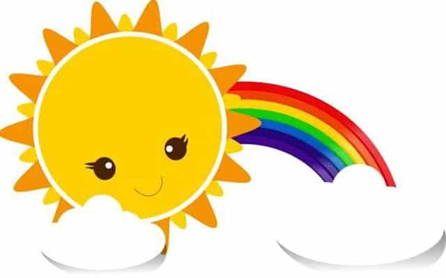 gambar matahari kartun