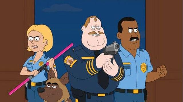 gambar polisi kartun