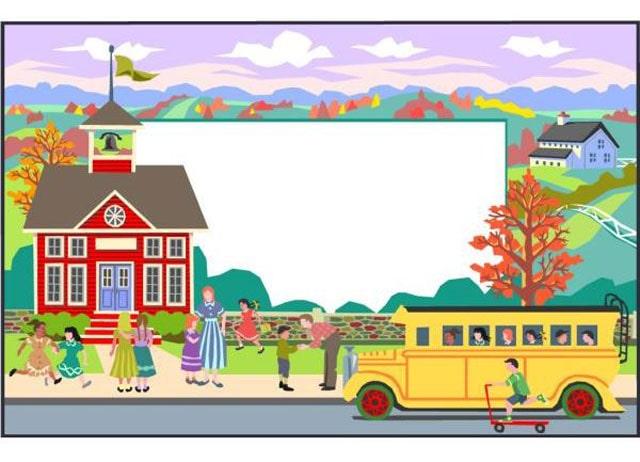 gambar sekolah kartun