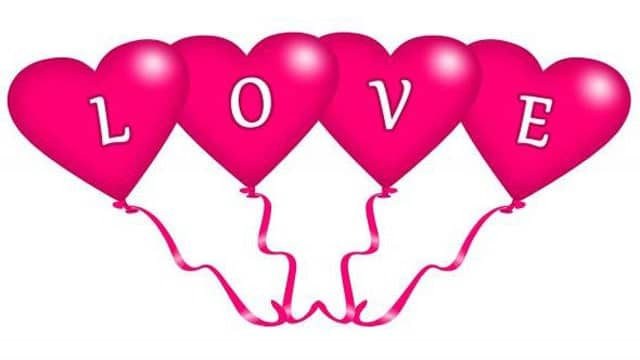 gambar hati berbentuk love
