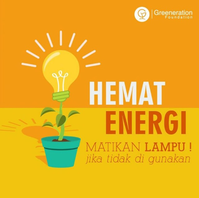 energy poster, turn off the light when not needed