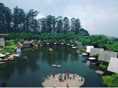 danau sekitar dusun bambu lembang tempat wisata