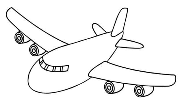 mewarnai gambar pesawat
