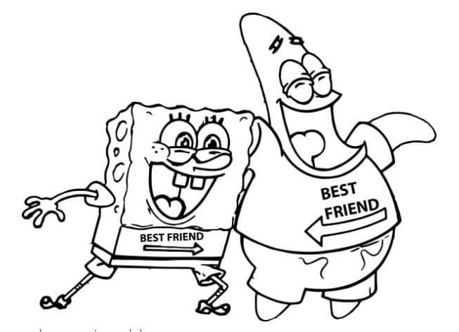 mewarnai gambar spongebob
