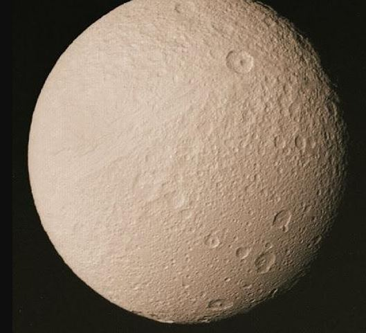 Tethys, fift largest moon of the saturn