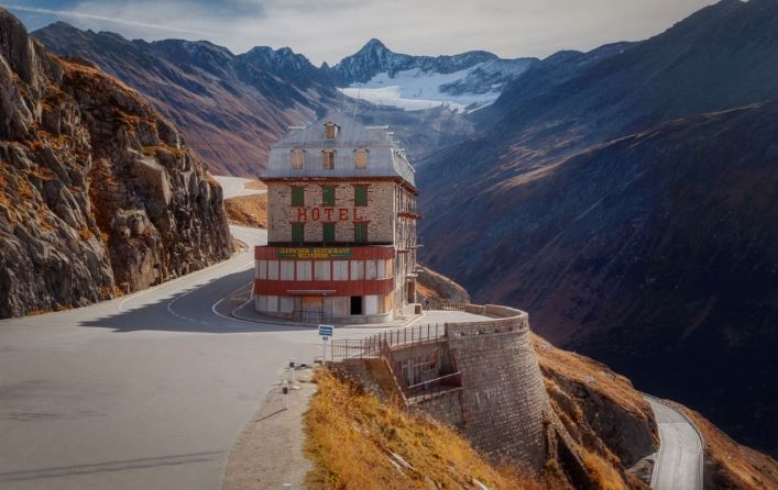 Hotel Belvedere Switzerland on The Edge of The Rhone Glacier
