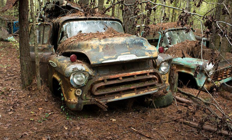 The Largest Old Car Wreck in the World