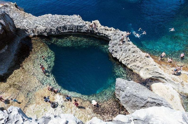 The Blue Hole of Gozo