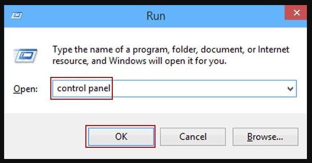 Control Panel via Run system