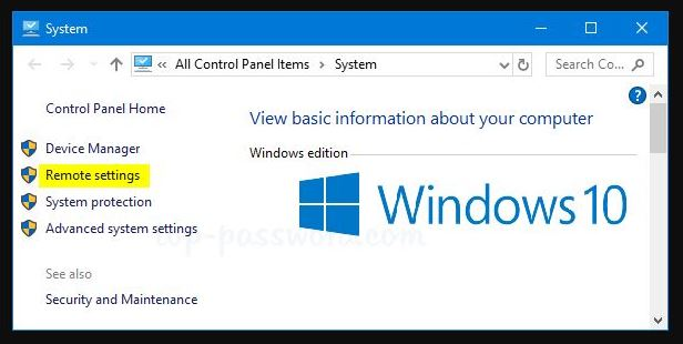 Enable Remote Assistance in Windows