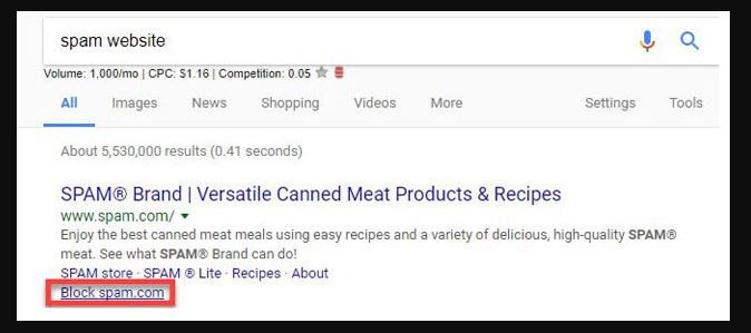 Google's Personal Blocklist