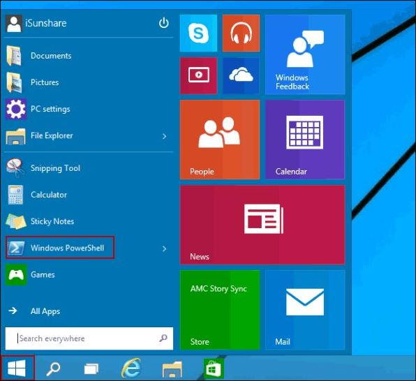 Open Control Panel from Windows PowerShell