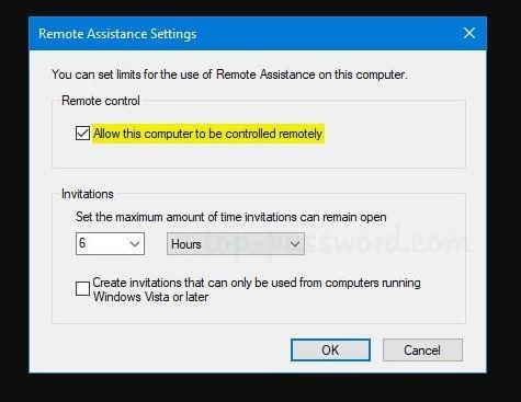 Remote Assistance Windows