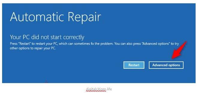 automatic repair in Win 9