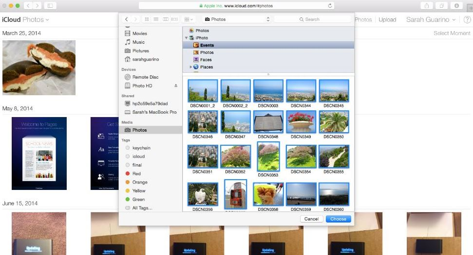how to upload photos to icloud iOS