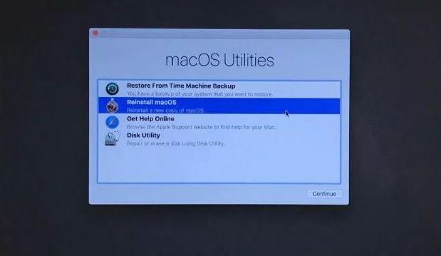 reinstall macbook pro