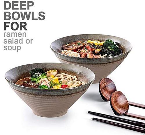 NJ Charms Large Japanese Ramen Soup Bowls