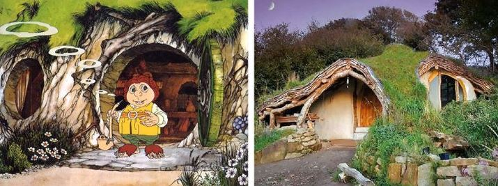 "The ""Hobbit Hole"" house, cartoon house in real world"