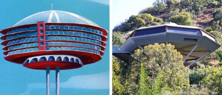 The Jetsons' futuristic house, cartoon house